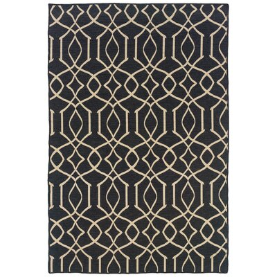 Hand-Tufted Grey/Natural Area Rug Rug Size: 5 x 8