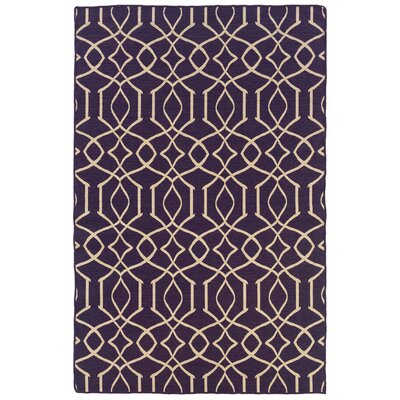 Blue Mountain Hand-Tufted Purple/Natural Area Rug Rug Size: Rectangle 5 x 8