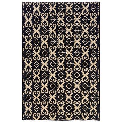 Blue Skye Hand-Tufted Black/Natural Area Rug Rug Size: Rectangle 5 x 8
