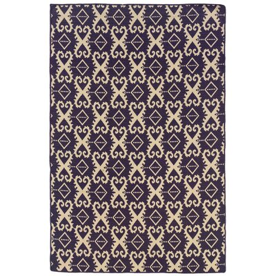 Hand-Tufted Purple/Beige Area Rug Rug Size: 5 x 8