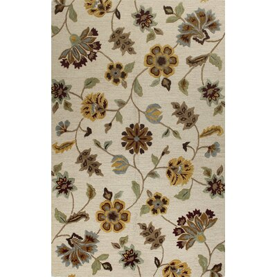 Bluffridge Hand-Tufted Ivory Area Rug Rug Size: 5 x 8