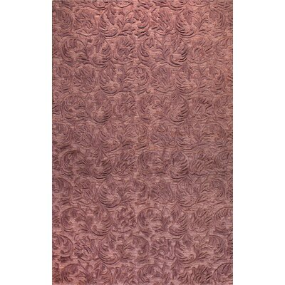 Boatwright Hand-Tufted Lilac Area Rug Rug Size: 79 x 99