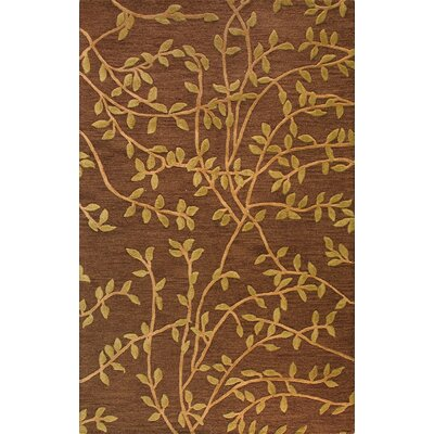 Bodnar Hand-Tufted Chocolate Area Rug Rug Size: 5 x 8