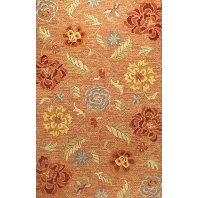 Boehme Hand-Tufted Rust Area Rug Rug Size: Runner 26 x 8