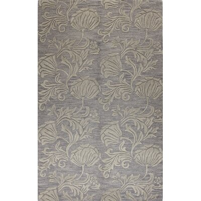 Bog Water Hand-Tufted Grey Area Rug Rug Size: 36 x 56