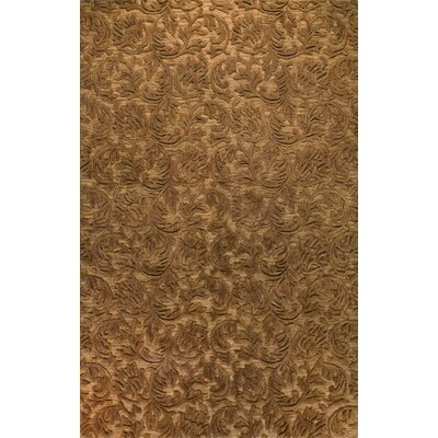 Bohannon Hand-Tufted Chocolate Area Rug Rug Size: 79 x 99