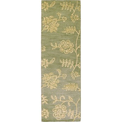 Bolindale Hand-Tufted Light Green Area Rug Rug Size: Runner 26 x 8