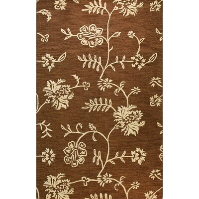 Norgate Hand-Tufted Chocolate Area Rug Rug Size: 3'6
