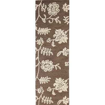 Norgate Hand-Tufted Chocolate Area Rug Rug Size: Runner 26 x 8