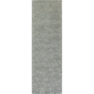 Noyes Hand-Tufted Light Blue Area Rug Rug Size: Runner 26 x 8