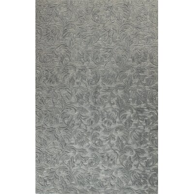 Noyes Hand-Tufted Light Blue Area Rug Rug Size: 5 x 76