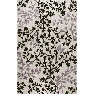 Oakhill Hand-Tufted Ivory/Black Area Rug Rug Size: 79 x 99