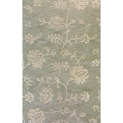 Richboro Hand-Tufted Teal Area Rug Rug Size: 5 x 8