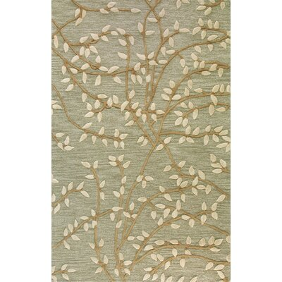 Richford Hand-Tufted Green Area Rug Rug Size: Rectangle 79 x 99
