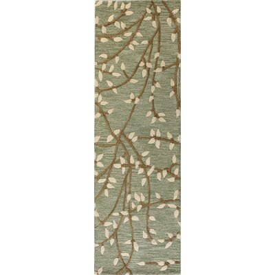 Richford Hand-Tufted Green Area Rug Rug Size: Runner 26 x 8