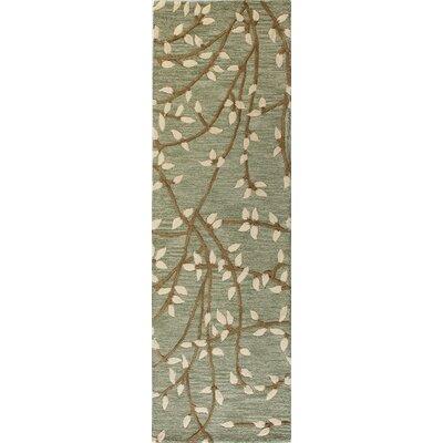 Richford Hand-Tufted Light Green Area Rug Rug Size: Runner 2'6