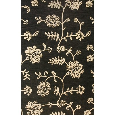 Riegelsville Hand-Tufted Black Area Rug Rug Size: 79 x 99