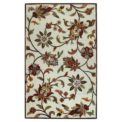 Robesonia Hand-Tufted Ivory Area Rug Rug Size: 36 x 56