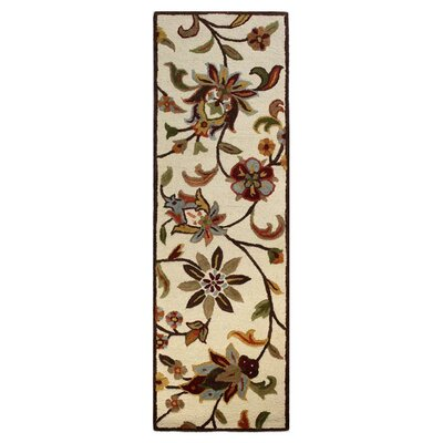 Robesonia Hand-Tufted Wool Ivory Area Rug Rug Size: Runner 26 x 8