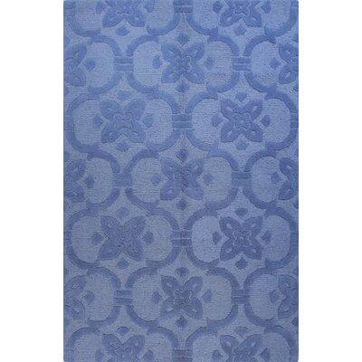 Robinswood Hand-Tufted Blue Area Rug Rug Size: 76 x 96