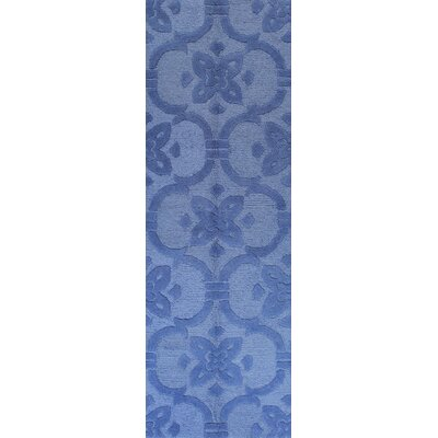 Robinswood Hand-Tufted Wool Blue Area Rug Rug Size: Runner 26 x 8