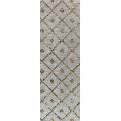 Rocky Hill Hand-Tufted Slate Area Rug Rug Size: Runner 26 x 8