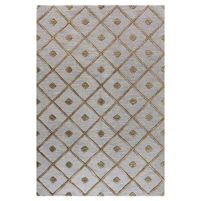 Rocky Hill Hand-Tufted Slate Area Rug Rug Size: 36 x 56