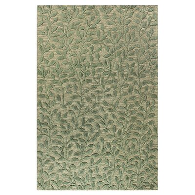 Rogersville Hand-Tufted Light Green Area Rug Rug Size: 86 x 116