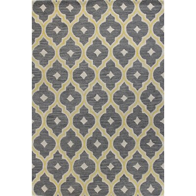 Russellton Hand-Tufted Grey Area Rug Rug Size: 36 x 56