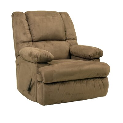Osgood Manual Rocker Recliner Upholstery: Mocha