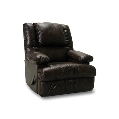 Osgood Leather Match Chaise Recliner Upholstery: Chocolate