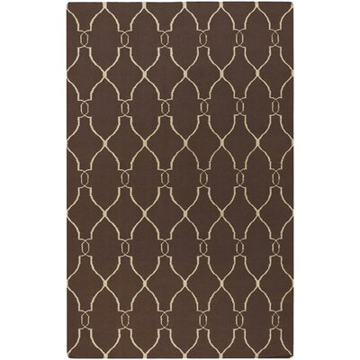 Findley Brown/Ivory Area Rug Rug Size: Rectangle 36 x 56