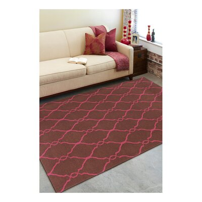 Findley Hand-Woven Chocolate/Fuchsia Area Rug Rug Size: Rectangle 9 x 13