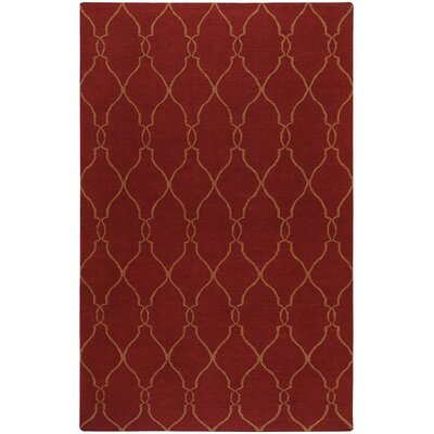 Lennox Brick/Gold Area Rug Rug Size: 5 x 8