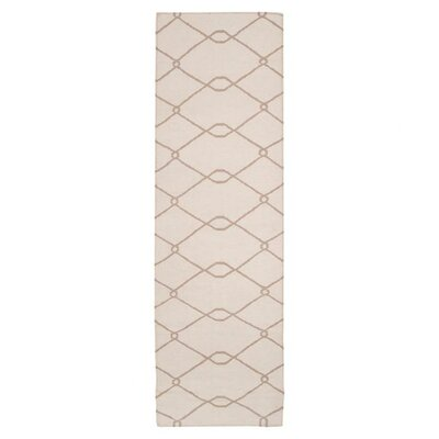 Findley Ivory/Taupe Area Rug Rug Size: Runner 26 x 8