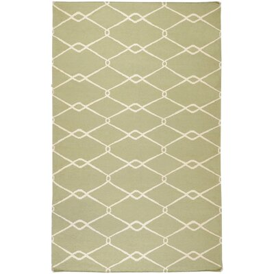 Findley Horizontal Sage/Ivory Area Rug Rug Size: Rectangle 36 x 56