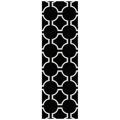 Findley Hand-Woven Black Area Rug Rug Size: Rectangle 2 x 3