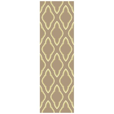 Findley Hand-Woven Taupe Area Rug Rug Size: Runner 26 x 8