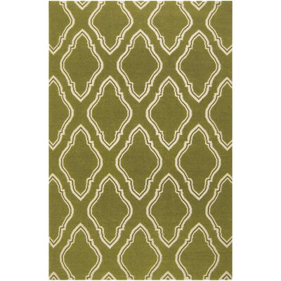 Findley Hand-Woven Olive Area Rug Rug Size: Rectangle 36 x 56