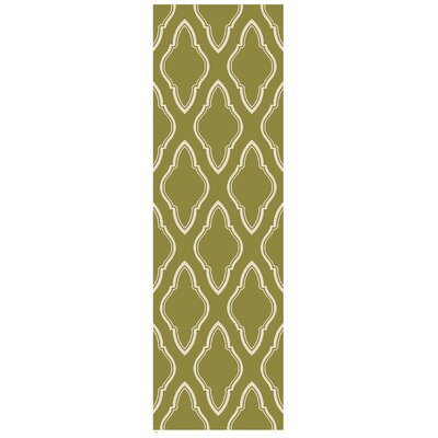 Lennox Hand-Woven Olive Area Rug Rug Size: Runner 26 x 8