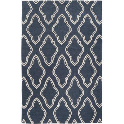 Findley Slate Blue Area Rug Rug Size: Rectangle 36 x 56