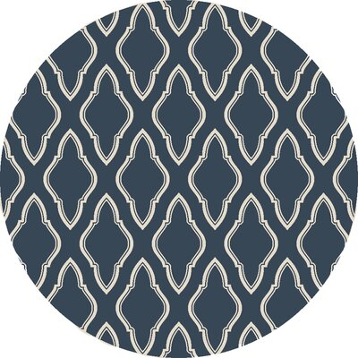 Findley Slate Blue Area Rug Rug Size: Round 8