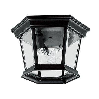 Christian 3-Light Flush Mount Finish: Black