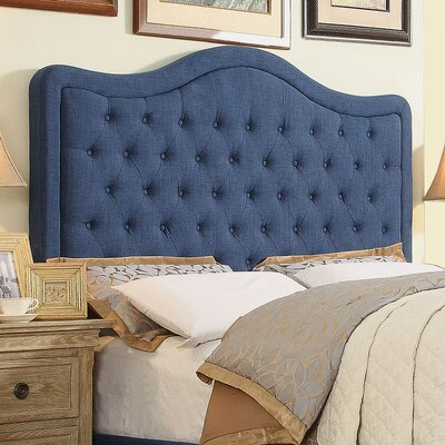Turin Tufted Upholstered Panel Headboard Size: Queen, Upholstery: Classic Navy