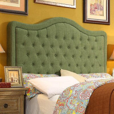 Turin Tufted Upholstered Panel Headboard Upholstery: Natural Olive Green, Size: Twin