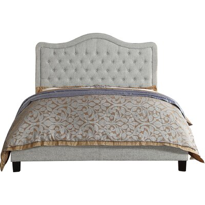 Turin Upholstered Panel Bed Upholstery Color: Gray, Size: Queen
