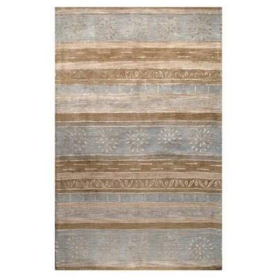 Ald Hand-Tufted Multi-color Area Rug Rug Size: 86 x 116