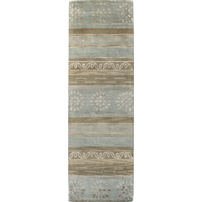 Ald Hand-Tufted Multi-color Area Rug Rug Size: Runner 26 x 8