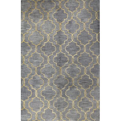 Valley Hand-Tufted Grey Area Rug Rug Size: 56 x 86