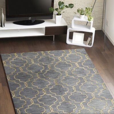 Valley Hand-Tufted Gray Area Rug Rug Size: 56 x 86
